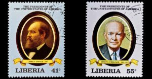 presidents with hair loss on postage stamps